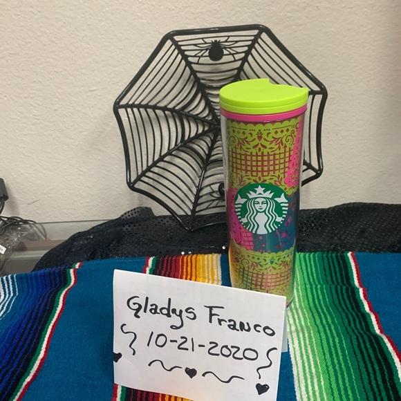 Starbucks day of the dead papel picado tumbler